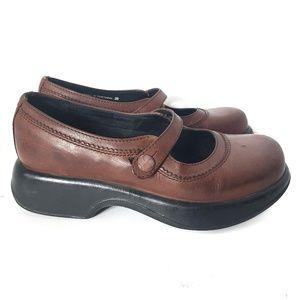 Vintage Dansko Mary Jane Chunky Clog Size 39 8.5 9